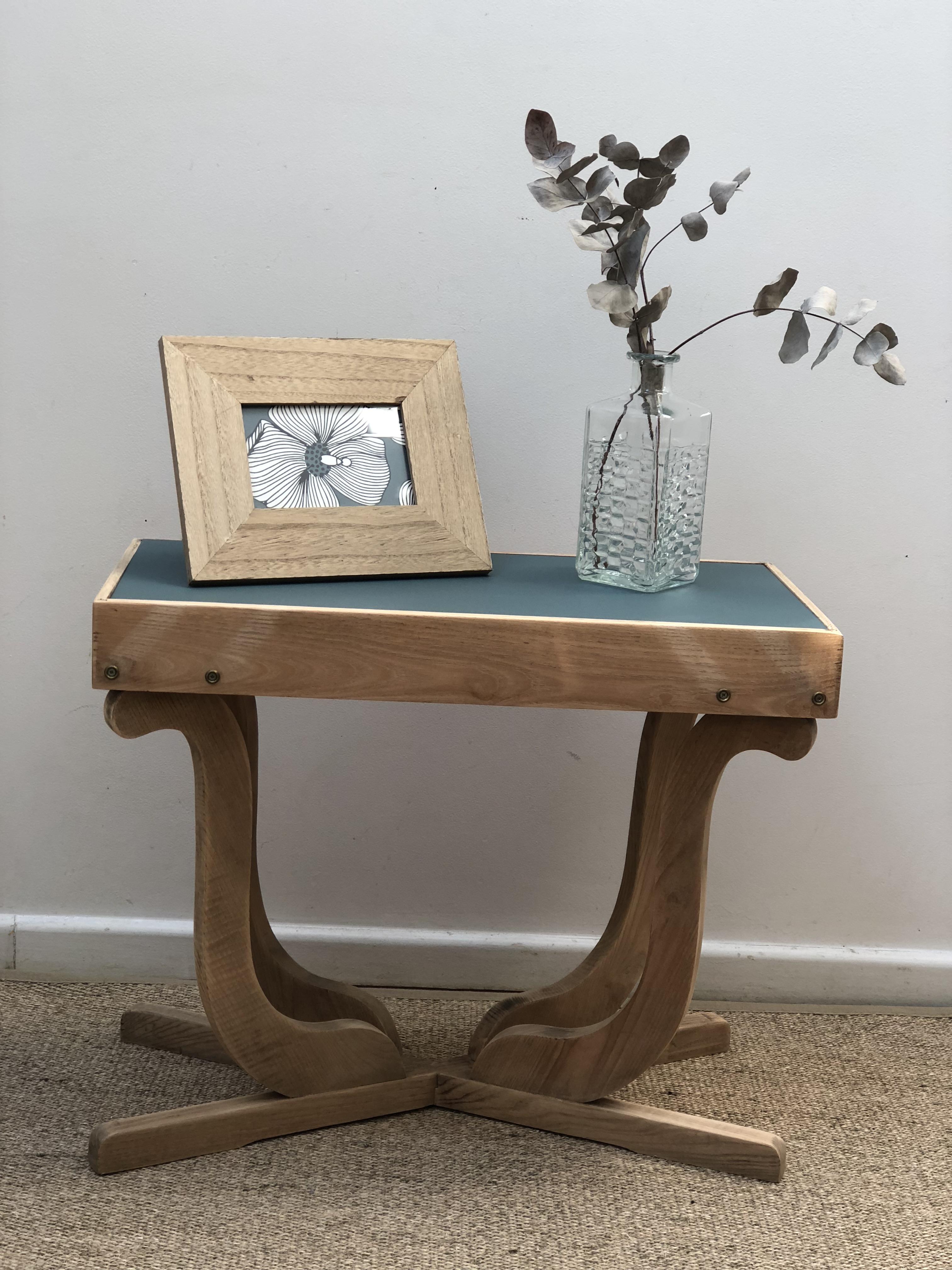 table basse art déco vert profond