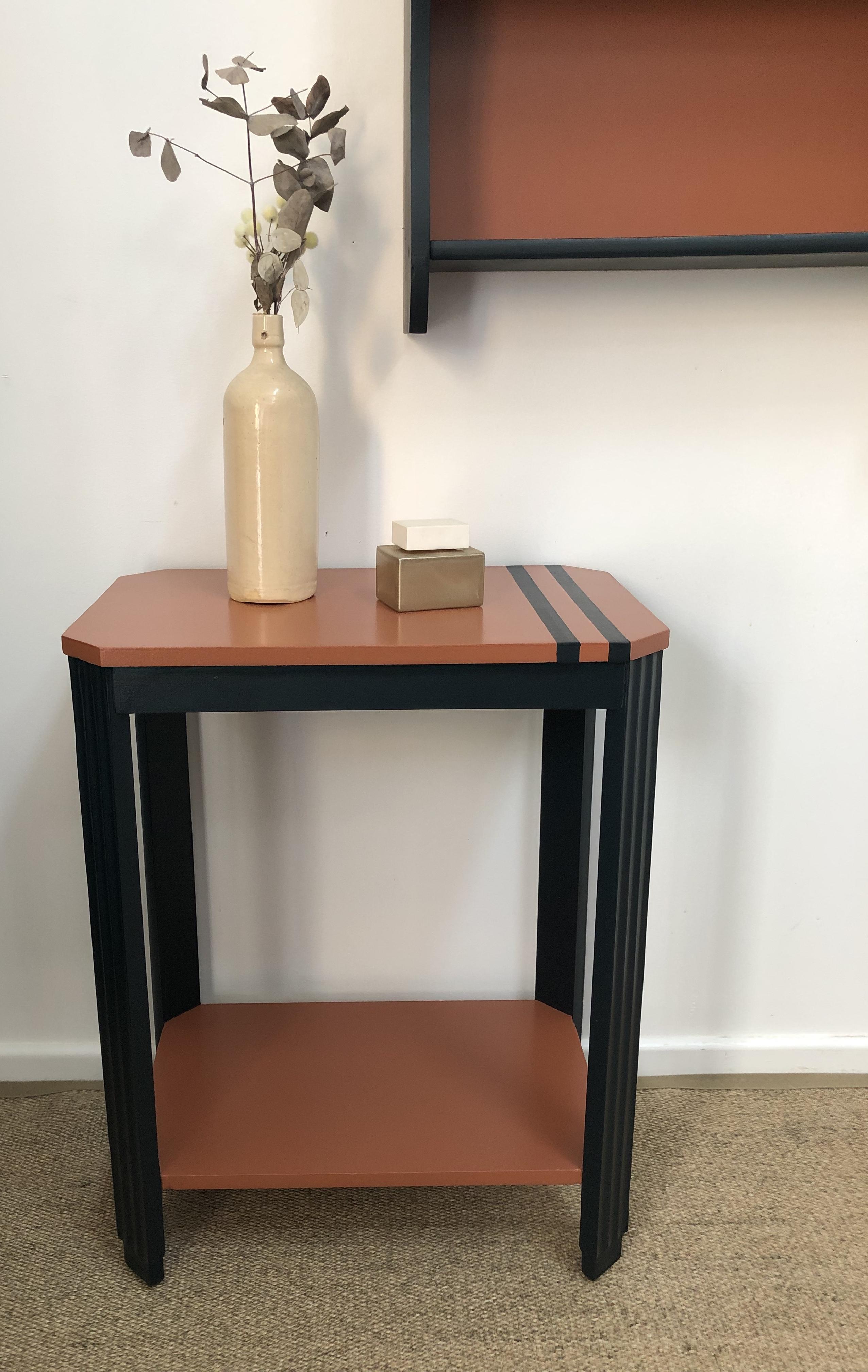 table art déco terracotta