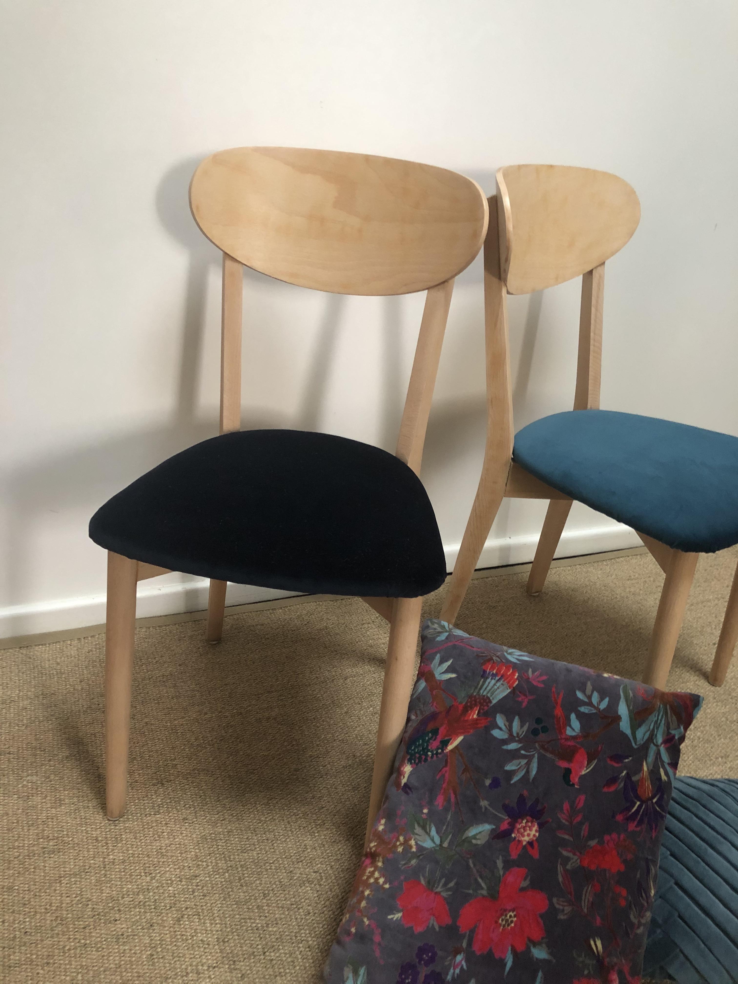 chaise bistrot bleu marine