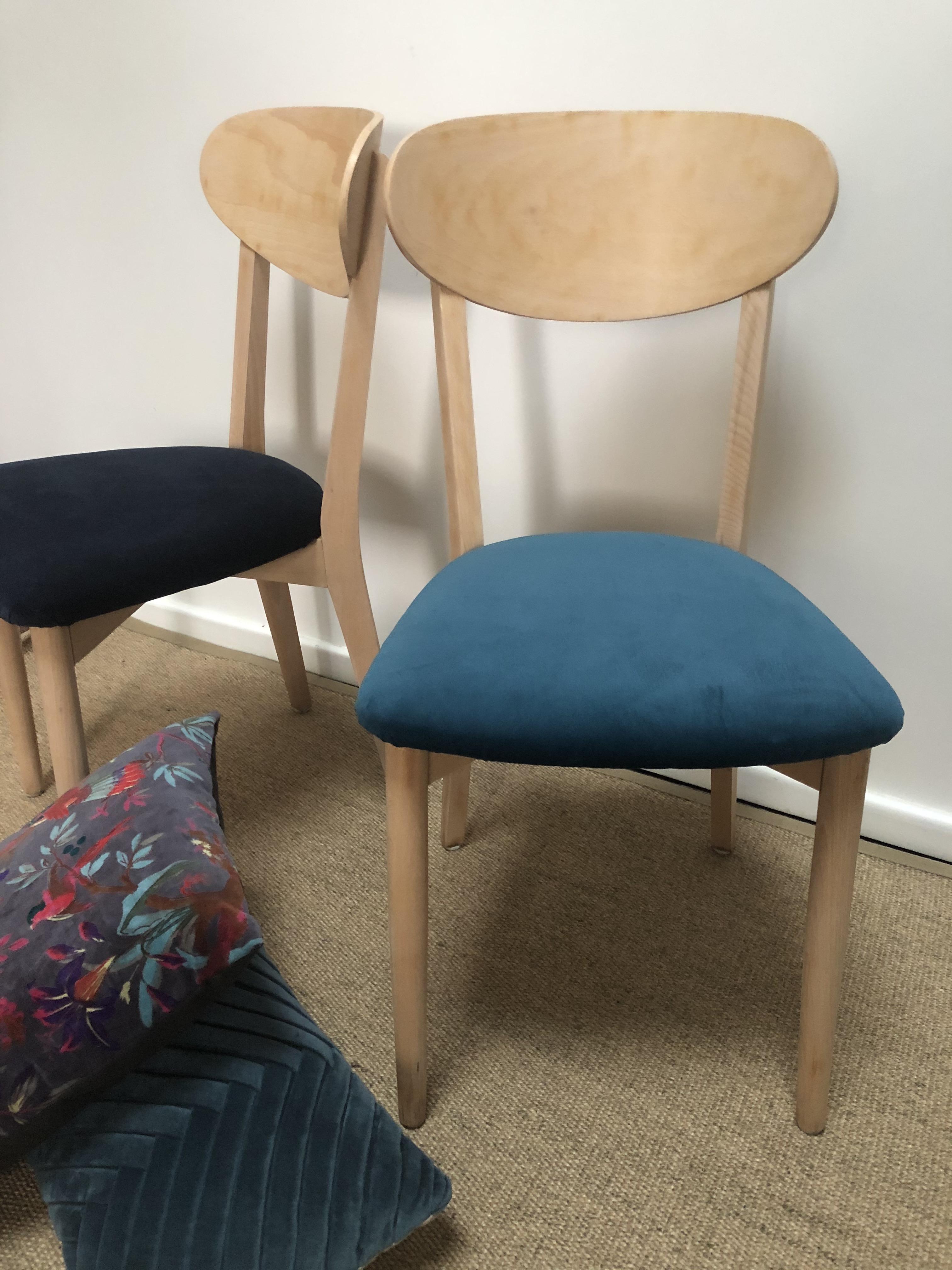 chaises bistrot assise velours vert