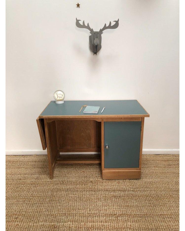 bureau en chêne avec tablette 6