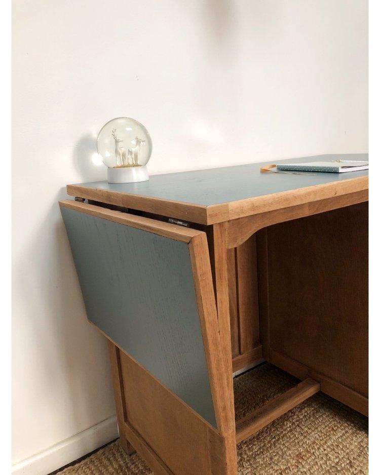 bureau en chêne avec tablette 5