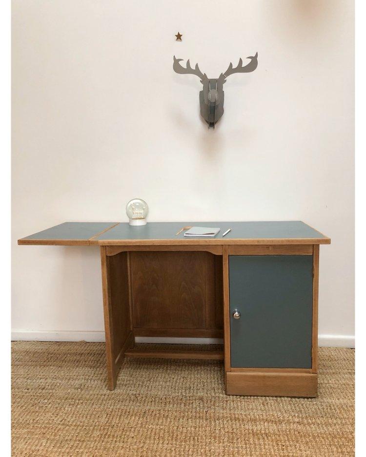 bureau en chêne avec tablette 4