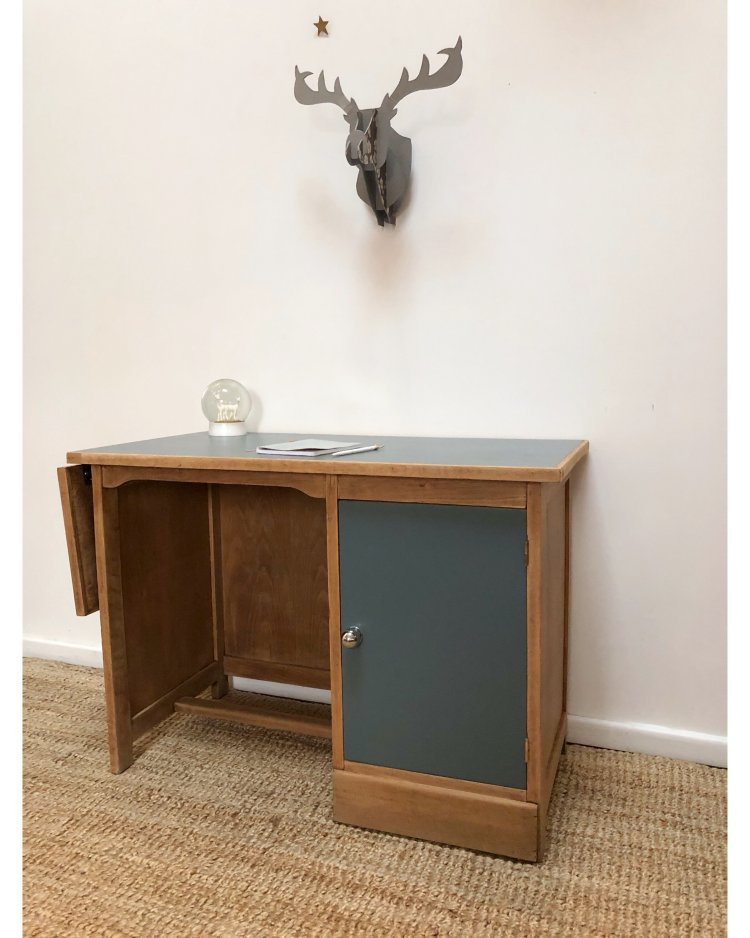 bureau en chêne avec tablette 2