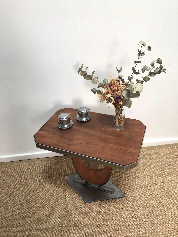 Table art déco pied métal 1